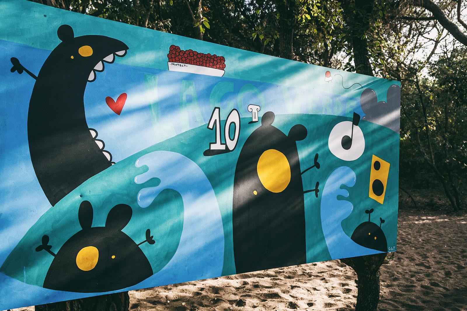 lago verde street art